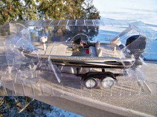 Outdoor Sportsman Silver Metallic Triton Bass Boat and Trailer 36795