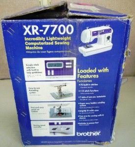 xr 7700 computerized sewing machine