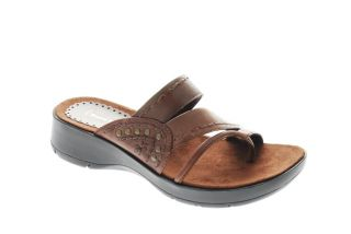 Bare Traps NEW OLEXUS Womens Slides Sandals Brown Designer Medium
