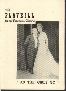 As The Girls Go Playbill 9 26 49 Bobby Clark Irene Rich Broadway