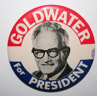 1964 Barry Goldwater President Campaign Button Political Pinback Pin