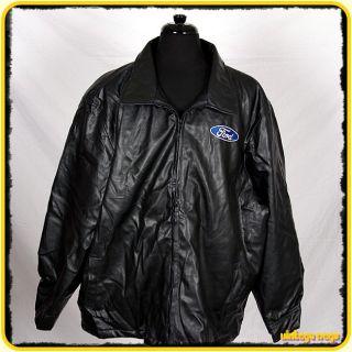Steve Barrys Ford PU Faux Leather Jacket Mens XXXL 3XL Black