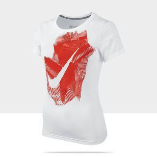 Nike Smeared Swoosh Damen T Shirt