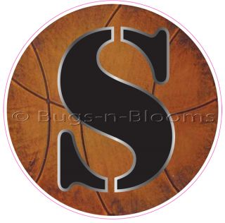 Basketball Letter Boy Sports Name Alphabet Wall Sticker Mural Vinyl