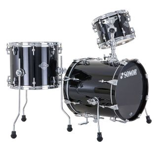 Force 3pc Jungle Kit All Maple 16 Bass Drum Piano Black New
