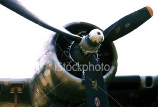 stock photo 37938 b 17 wwii bomber engine