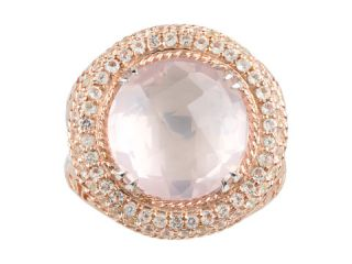 DeLatori Rose Quartz and Crystal Ring    BOTH