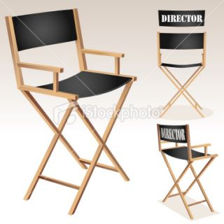 Directors Chair Royalty Free Stock Vector Art Illustration
