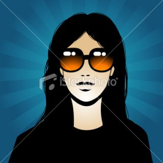 Girl with sunglasses Royalty Free Stock Vector Art Illustration