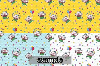 clown seamless pattern / birthday / cartoon  Stock Illustration