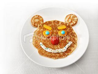 Pancake, Visage, Crêpe, Sourire, Aliment Photo libre de droits
