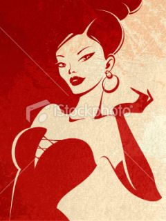 stock illustration 10894329 femme fatale
