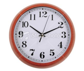 stock photo 13457668 clock clipping path