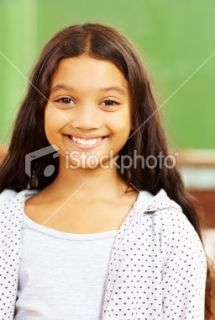 Close up of a cute little school girl  Stock Photo  iStock