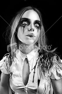 Halloween, Femmes, Style gothique, Punk, Horr  Stock Photo