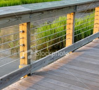Wooden Walkway at Sunset Royalty Free Stock Photo