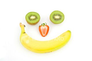 Visage, Fruit, Aliment, Smiley, Banane Photo libre de droits