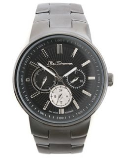 Ben Sherman  Ben Sherman Black Plated Bracelet Watch at