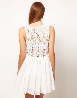 Imagen 2 de Vestido de seda de algodón con corpiño calado Anais de