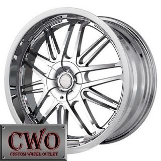 20 Chrome Touren TR7 Wheels Rims 5x108/5x114.3 5 Lug Volvo Jaguar