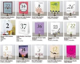 Modern Round Tree Wedding Table Number Cards WS1011 06 Wedding