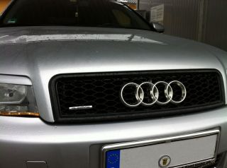 A4 RS4 S4 TYPE 8E 8H SPORT MESH BADGELESS FRONT GRILLE + EMBLEM HOLDER