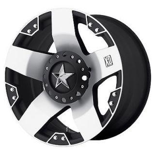 17 x6 XD Series XD775 Rockstar Dually Chrome 8 Lug Wheels Rims FREE
