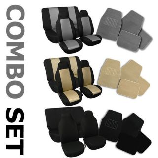 Combo Set  Seat Covers & Floor Mats for Jeep Wrangler 1988   2006