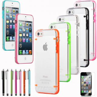 Ultra thin Clear/Transparent Bumper Case Skin PC Frame For iPhone 5 5G
