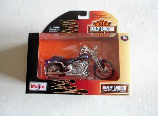Harley Davidson Motorcycles Collectors Maisto 2001 Springer Softail