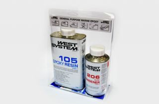 WEST SYSTEM A PACK 105 EPOXY RESIN + 206 HARDENER 1.2KG BOAT REPAIRS
