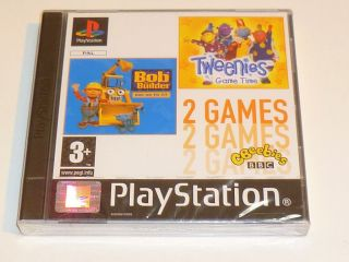 Playstation PS1  CBEEBIES   BOB THE BUILDER & THE TWEENIES   NEW