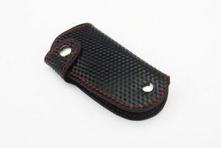 3D Carbon Fiber Leather Mercedes Benz Remote Smart Key keyless Holder