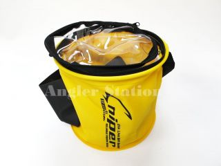 Sniper SP608 EVA (Foldable) Live Bait Fishing Bucket   Yellow