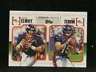 B27503 2010 Topps Gridiron Lineage #GLET John Elway Tim Tebow RC