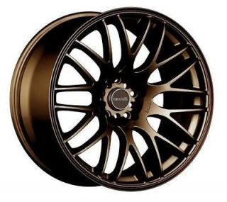 17 TENZO R TYPE M BRONZE RIMS WHEELS 17x7 +42 4x100 MINI COOPER CIVIC