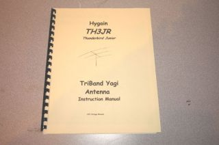 hygain th3jr yagi antenna instruction manual time left $ 11