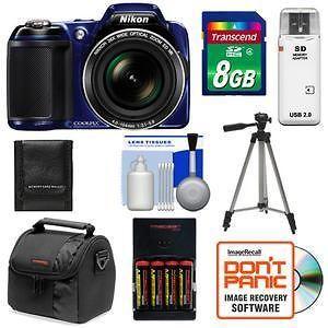 nikon coolpix l810 digital camera kit 16 1 mp blue