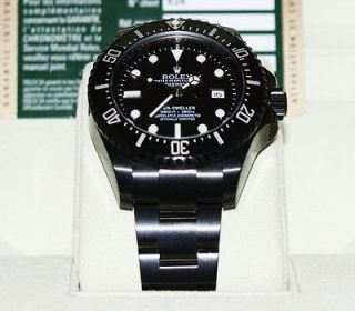 black rolex deep sea ceramic 116600 in dlc pvd scratch