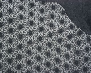 black halloween spider web cotton lace sold by the yard