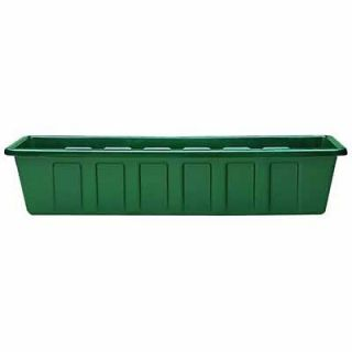 Novelty Mfg 02241 24 PolyPro Hunter Green Plastic Window Box Planter
