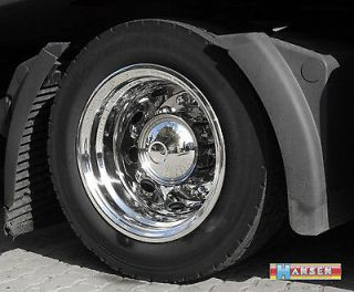 1x set truck complete (2 rims) stainless steel trim lining 9x22,5