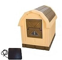 Deluxe Dog Palace Insulated Dog House w/ Floor Heater   Large, Dog
