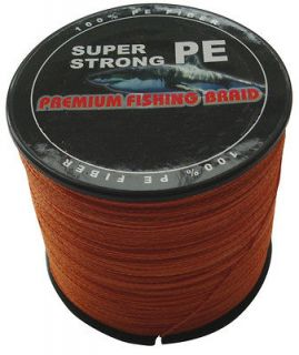 PE DYNEEMA BRAID FISHING LINE 10LB 1000M 0.12mm SPECTRA ORANGE