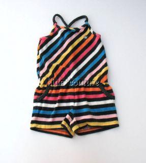 av JUICY COUTURE~Terry Cotton Stripe Girls Sunsuit Romper~4