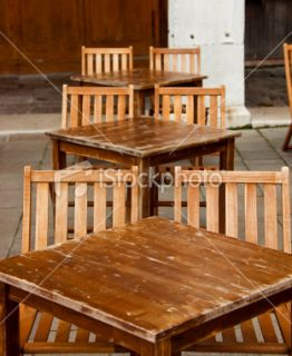 stock photo 9832091 wooden table and chairs