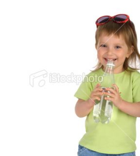 stock photo 9424455 little girl drink the water