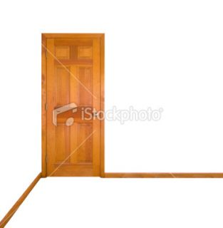stock photo 2882758 closed door clipping path