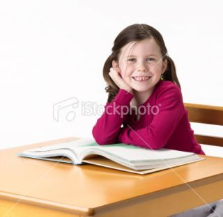 stock photo 16203653 little girl with book
