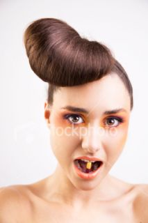 Cheveux, Coiffure, Chignon, Bizarre, Femmes  Stock Photo  iStock FR